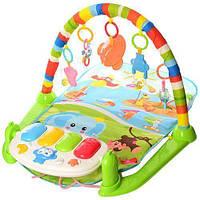 Развивающий коврик для младенца с пианино 698-54-54А-55-1, фото 1