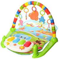Развивающий коврик для младенца с пианино 698-54-54А-55-3, фото 1