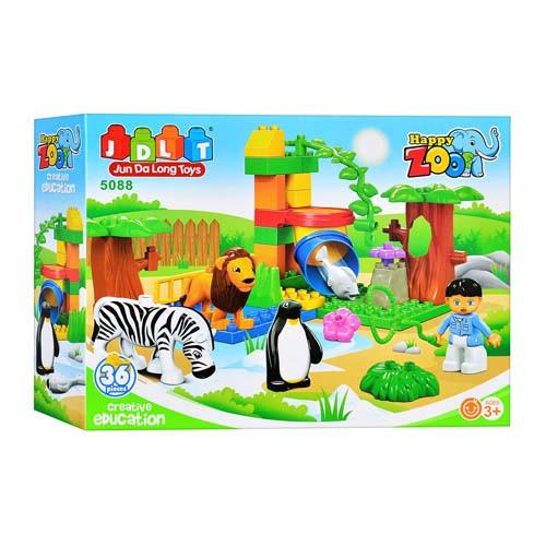 Детский конструктор JDLT 5088, зоопарк, ( 36 деталей)