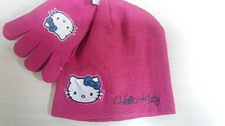 Шапка+перчатки для девочек Disney оптом арт.780-026