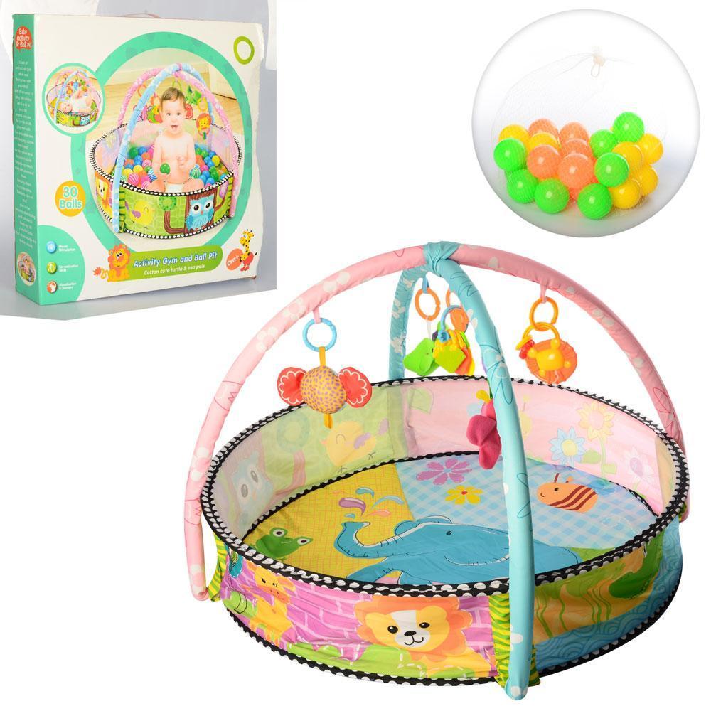 Развивающий коврик с бассейном и мячиками FC063