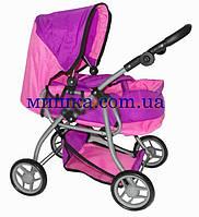 Коляска для куклы 9672 Melogo розово-фиолетовая  h = 62 cm, 2 в 1, классика, фото 1