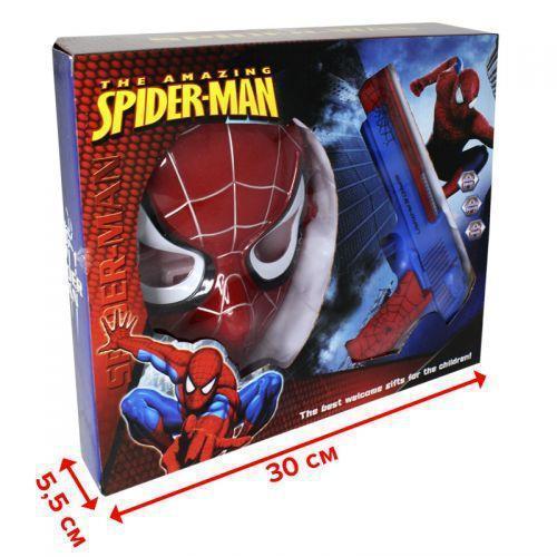 Набір з зброєю 236-21A, пістолет (світло, звук, справжній дим) + маска, Spider Man