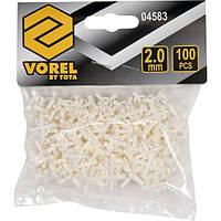 Крестики дистанционные многократные для плитки VOREL: тип U, 2 мм, V-04583