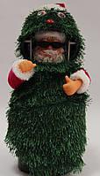 Дед мороз музыкальный (внутри елочного чудика), 26 см, танцует, поет, фото 1