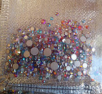 Стразы стекло цветные разного размера хамелеон 720 шт.
