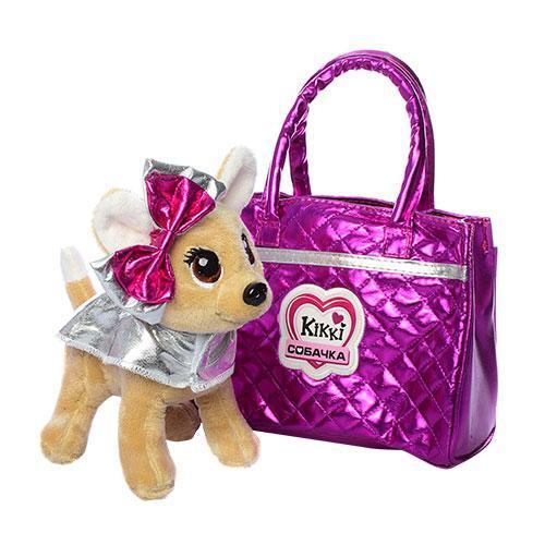 Собачка Кикки в сумочке, интерактивная игрушка 22 см, M 3642-N-UA