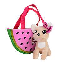 Собачка Кикки в сумочке, интерактивная игрушка 14 см, M 3698 UA, фото 1
