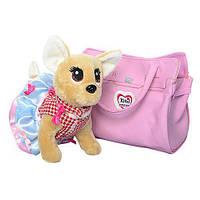 Собачка Кикки в сумочке, интерактивная игрушка 22 см, M 3219-N-UA