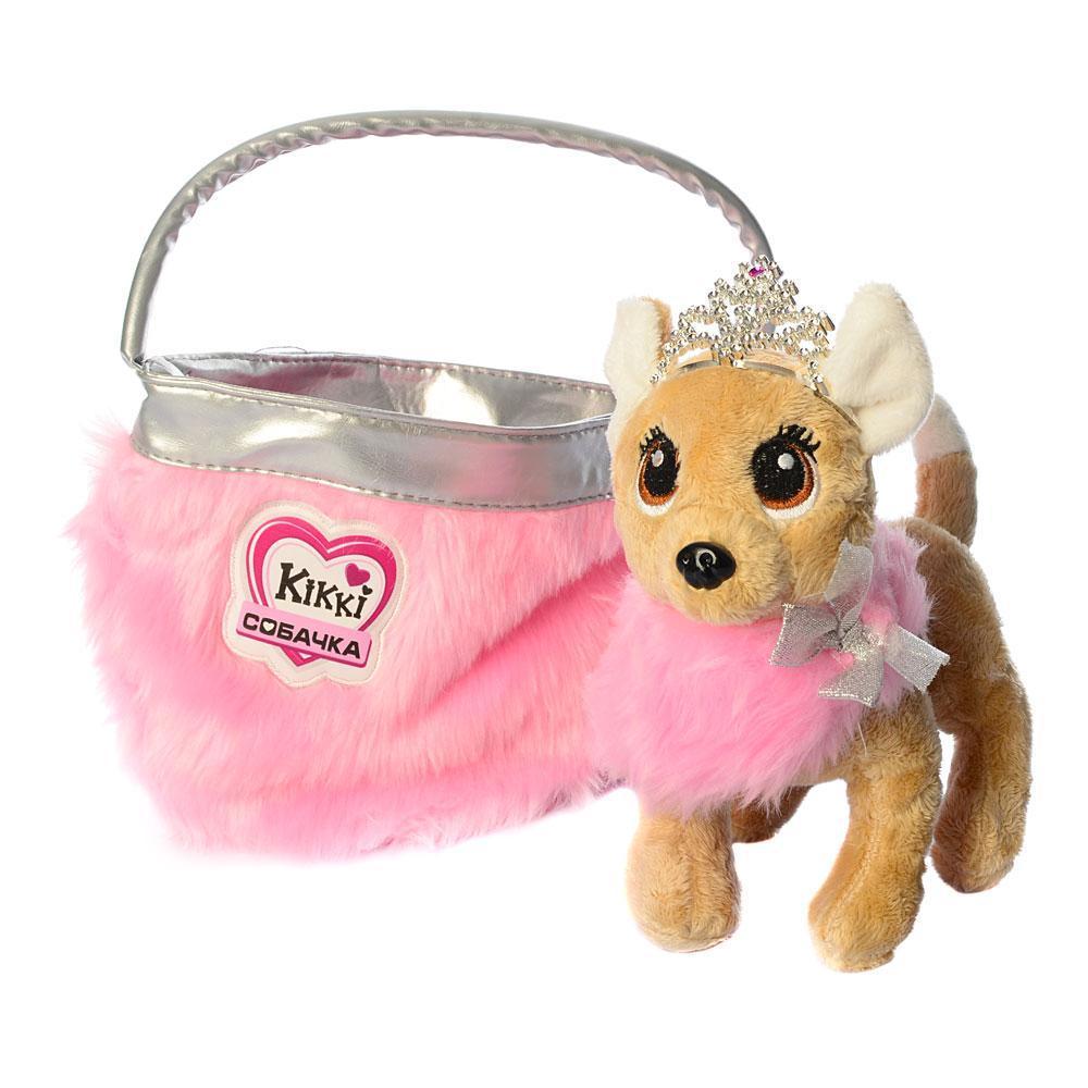 Собачка Кикки в сумочке, интерактивная игрушка 22 см, M 3481-N-UA