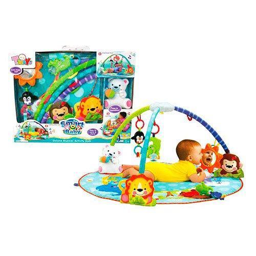 Коврик для малыша 100*100 см BAMBY 63504, с плюшевым мишкой (19 см)