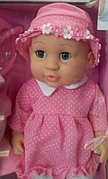 Кукла-пупс ПУПС 30805-1-5-7-8 интерактивная (4 вида), в платье