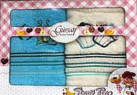 Набор кухонных махровых полотенец с вышивкой  40х60 см(Турция)