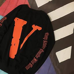 Свитшот Vlone & Off White Co • Черный свитер • Оригинальный принт • Все размеры, фото 2