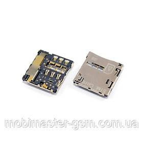 Шлейф HTC T528t One SV с SIM и коннектором SD
