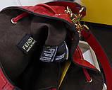 Сумка женская Фенди Mon Tresor, цвет красный, натуральная кожа, фото 8