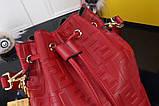 Сумка женская Фенди Mon Tresor, цвет красный, натуральная кожа, фото 4