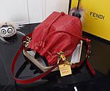 Сумка женская Фенди Mon Tresor, цвет красный, натуральная кожа, фото 5