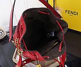 Сумка женская Фенди Mon Tresor, цвет красный, натуральная кожа, фото 7