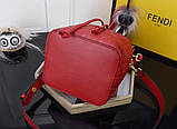 Сумка женская Фенди Mon Tresor, цвет красный, натуральная кожа, фото 6