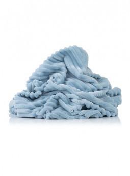 Плюшевая ткань Stripes голубая отрез (размер: 0,7*1,6 м)