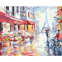 Картина по номерам. Цветочная улица в Париже