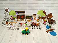 Веселое ранчо с механической мельницей 26 предметов