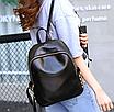 Рюкзак женский кожзам Kelli Черный без карманов, фото 3