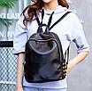 Рюкзак женский кожзам Kelli Черный без карманов, фото 4