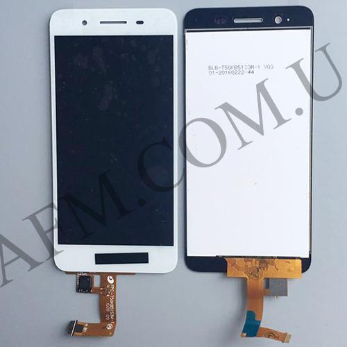 Дисплей (LCD) Huawei Enjoy 5s/  GR3 (TAG- L21/  TAG- L01/  TAG- L03) с сенсором белый