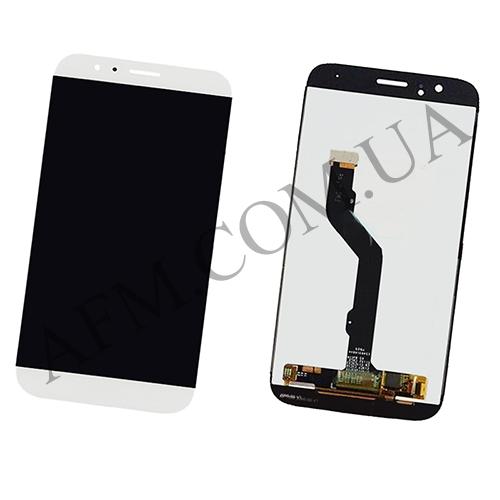 Дисплей (LCD) Huawei G8 (RIO- L01)/  GX8 с сенсором белый