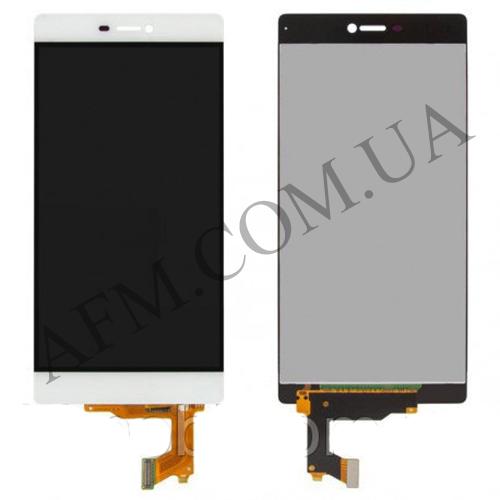 Дисплей (LCD) Huawei P8 (GRA- L09/  GRA- UL00) с сенсором белый
