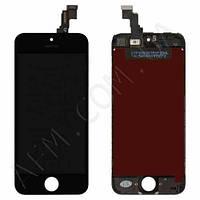 Дисплей (LCD) iPhone 5C с сенсором чёрный