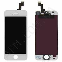 Дисплей (LCD) iPhone 5S/  SE с сенсором белый