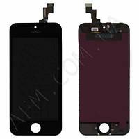 Дисплей (LCD) iPhone 5S/  SE с сенсором чёрный