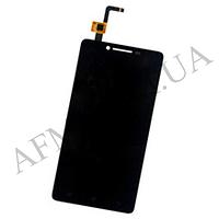 Дисплей (LCD) Lenovo A6000/  K3 (K30- T)/  K3 (K30- W) с сенсором чёрный + рамка