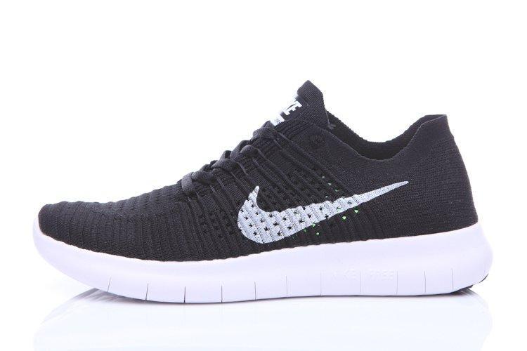 90acb740 Мужские кроссовки Nike Free Run Flyknit Black White | найк фри ран черные
