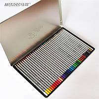 Карандаши Marco Raffine 36 цвета в мет. пенале 7100-36TN