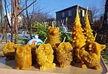 """Восковая свеча """"Сова с букетом цветов"""" из натурального пчелиного воска, фото 3"""
