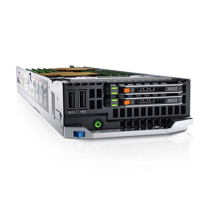 Сервер Dell FC430 2xE5-2620v3 96GB 2x16GB SD Card iDRAC Ent 5Y 4h