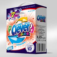 Clever Color стиральный порошок для цветных тканей 3.25 кг