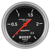 Датчик буста Autometer 0-2.5 кг/см2 3404-J метрический 67мм, фото 1