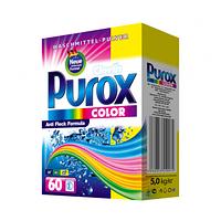 Purox стиральный порошок для цветных тканей 5 кг картон