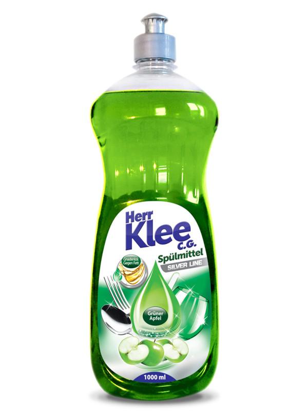 Herr Klee жидкость для мытья посуды 1 л Зеленое яблоко