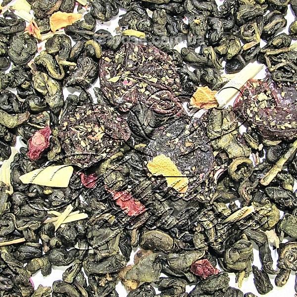 Зелений ароматизований чай «Карибський коктейль»