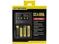 Универсальное зарядное устройство Nitecore SC4 Superb Charger. Оригинал