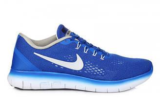 Оригинальные мужские кроссовки Nike Free Run Flyknit V.1 Blue White |найк фри рун синие