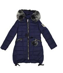 Детское зимнее пальто для девочки от Kiko 4507, 122-140