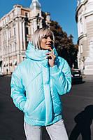 Короткая объемная куртка зима с большим капюшоном 14KU168, фото 1