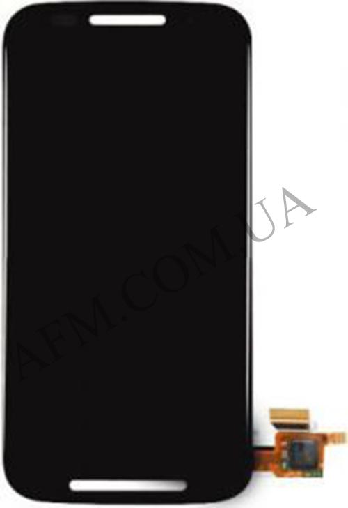 Дисплей (LCD) Motorola XT1021 Moto E/  XT1022/  XT1025 с сенсором чёрный + рамка